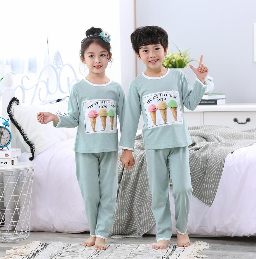 2019 Winter Kids Pajamas Sets Baby Girl Clothes Boy Girls Sleepwear Pyjamas Kids Cartoon Full Sleeve 2pcs Pijamas Suit Nightwear(China)