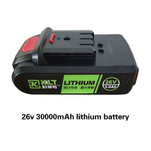 Batería de repuesto para herramienta eléctrica, 26V, 3000mAh, llave eléctrica, pistola de remache eléctrica, destornillador eléctrico/taladro, martillo eléctrico