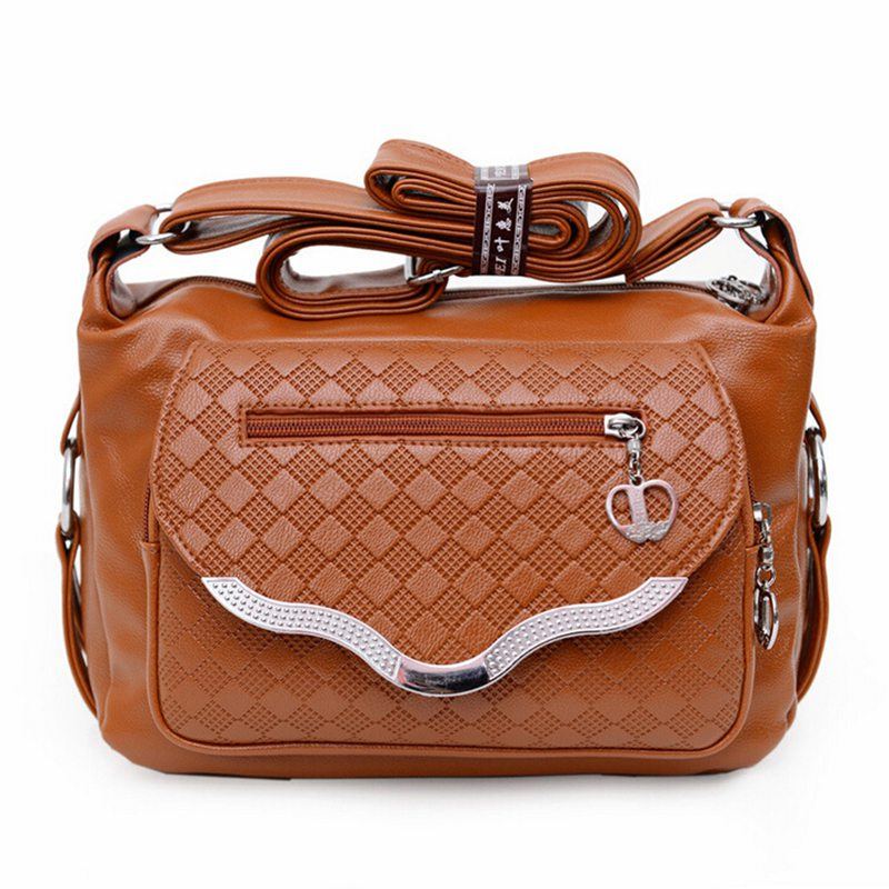2017 women messenger font b bags b font leather handbag mid age models shoulder font b