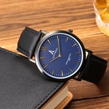 ALK VISION Hombres de Acero Inoxidable Reloj de Pulsera de Cuero Negro Casual Hombres Relojes 2017 Marca de Lujo de Pulsera de Cuarzo Resistente Al Agua