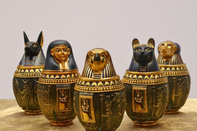 Maison égyptienne kanuo pic jar ameublement ornements ameublement chambre secrète évasion décoration ornements réservoir de stockage