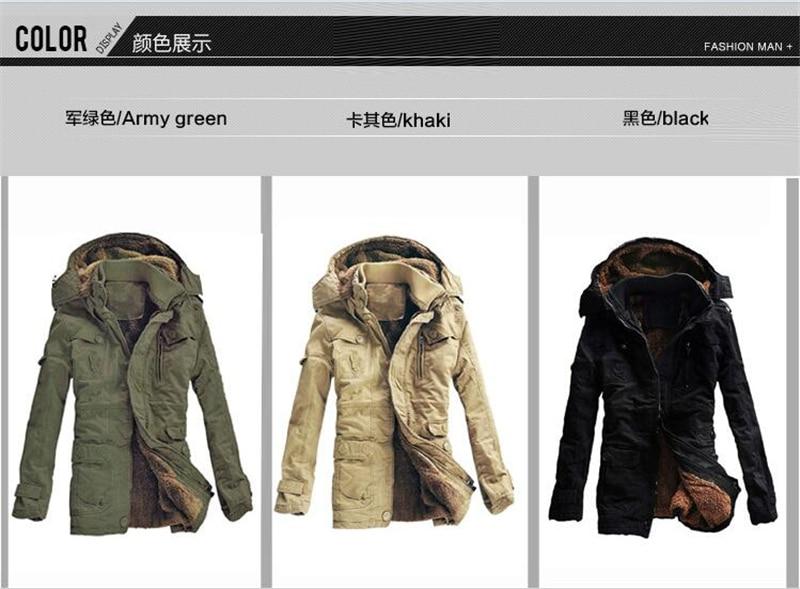 Closer-to-U Brand Jacket Parkas Coat Thick Warm Military Cowboy Jackets Outwear Parkas Hombre 5XL 6XL