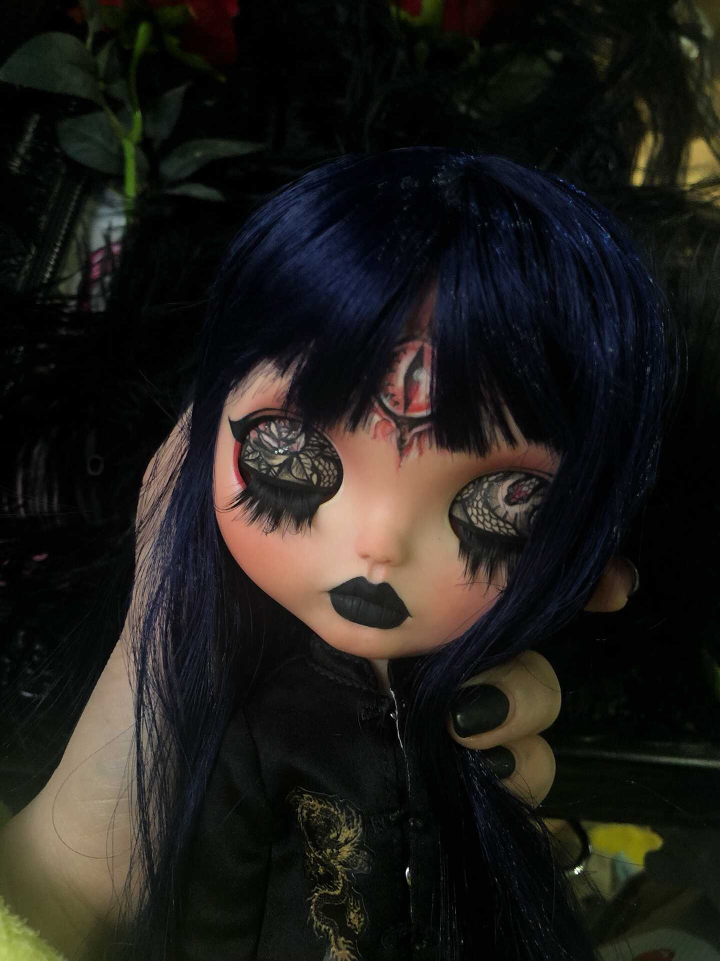 Black Licca Doll Body Replacement Doll Body Doll Body Blythe Doll Custom Black Blythe Doll Body Body for Blythe Size Small Blythe