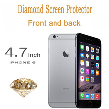 Diamond glitter Screen Protector front and back for Iphone 6 4 7 inch Sparkling Bling Film
