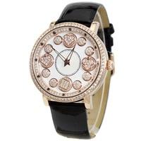 Rose Gold Female Quartz Watches Woman Full Diamond Dress Watch Ladies Fashion Waterproof Clock Top Brand Luxury Relogio Feminino