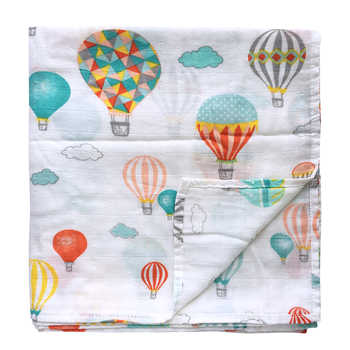 New Prints Baby Swaddle Wraps Bamboo Cotton Baby muslin Blankets Baby Stroller Cover - DISCOUNT ITEM  30% OFF All Category