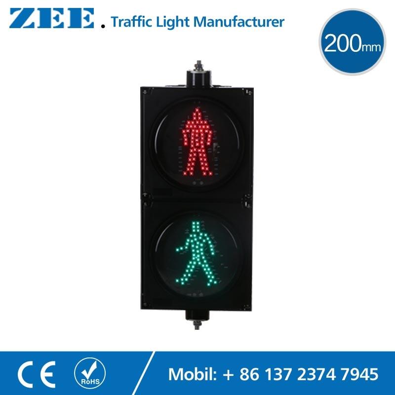 8 inches 200mm LED Traffic Light LED Pedestrian Traffic Signal Light Red Man Green Man People Crossing Light led electronic traffic lane control signal traffic lane indicator light with red cross