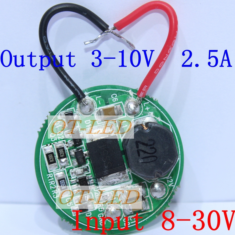 2pcs 1 Mode Constant Current Led Driver Output 3V-10V Input 8V~30V For 1pcs/2pc/3pcs*XML XML2 for CAR motorcycle boat Light DIY 90w led driver dc40v 2 7a high power led driver for flood light street light ip65 constant current drive power supply