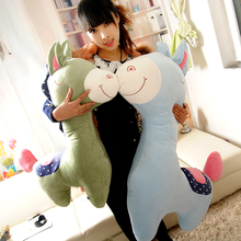 Genuine mail large animal pony donkey grass-mud horse sleeping pillow doll plush toys Christmas gifts