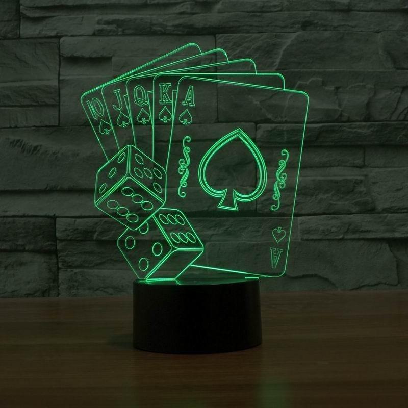 Luzes da Noite 5 v usb cor mudar Formato : Poker And Dice Light