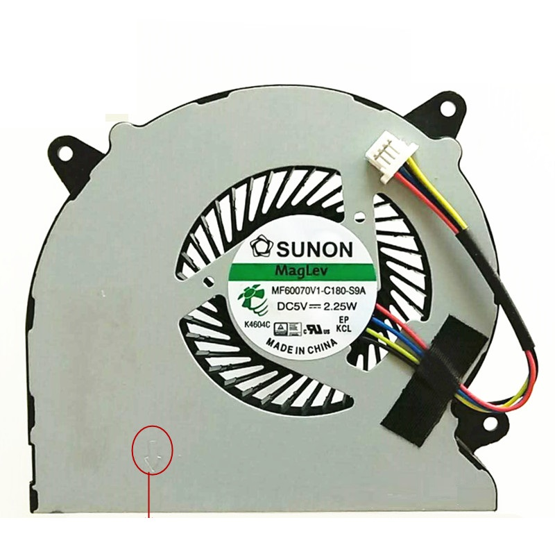 SSEA Brand New CPU Fan For ASUS N550 N550J N750 N750JK N750JV G550JK Laptop CPU Cooling Fan MF60070V1-C180-S9A