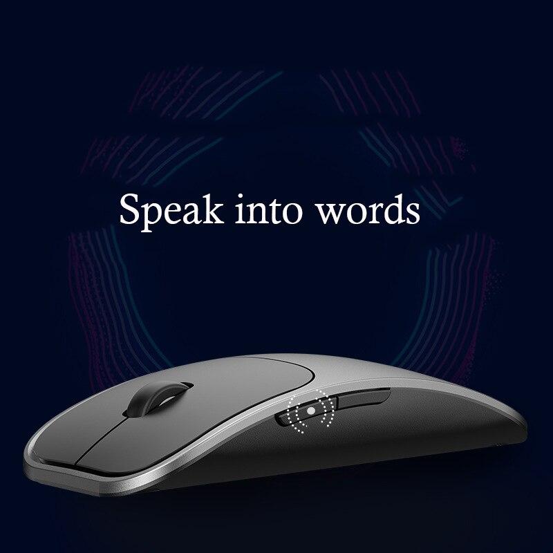 AI intelligent voix souris sans fil avec entrée vocale haute précision détection 2.4G bluetooth souris d'ordinateur portable souris informatique