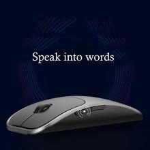 Ai Cerdas Suara Mouse Nirkabel dengan Suara Presisi Tinggi Penginderaan 2.4G Bluetooth Mouse untuk Laptop Computerese Mouse