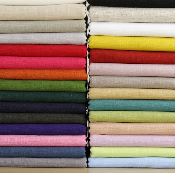 Solid color cotton linen fabrics meter sewing patchwork cloth sctapbooking diy accessories garment fabric wallet