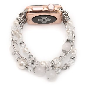 Image 3 - Womens Agate Stretch Bracelet for Apple Watch Band for iWatch Seies 1/2/3/4/5 44mm 42mm 40mm 38mm Wrist Strap Watch Band Belt