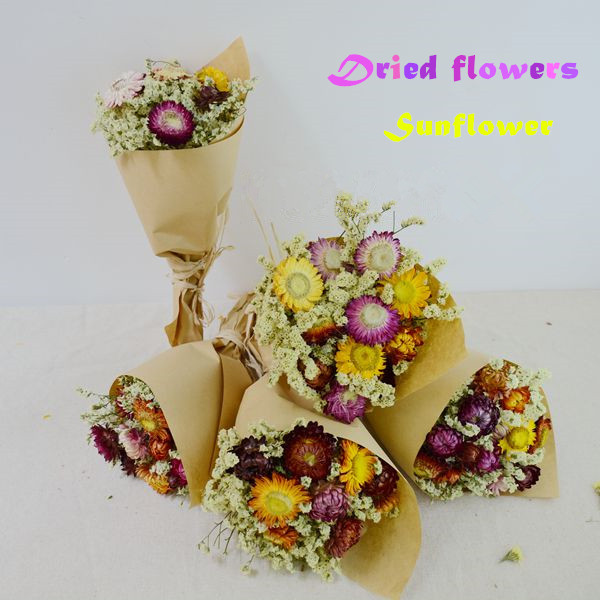 Natural dried flower Sunflower bouquet Preserved Flower wedding gift home decoration Wholesale