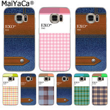 MaiYaCa Kpop exo Lucky one name Luxury fashion cell phone case for Samsung S3 S4 S5 S6 S6edge S6plus S7 S7edge S8 S8plus(China)