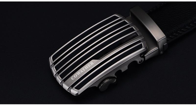 حزام COWATHER جلد طبيعي للرجال ذو جودة عالية 10