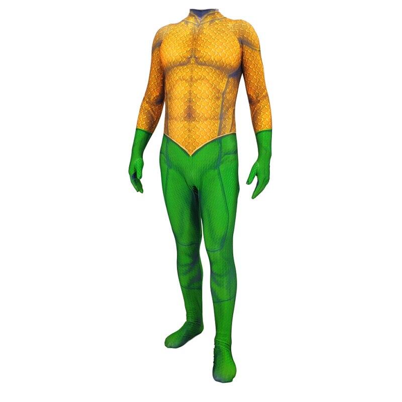 Halloween Costume 3D Print Movie Justice League Aquaman Cosplay Costume Zentai Arthur Curry Orin Bodysuit Suit Jumpsuits