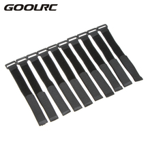 GoolRC 10 Pcs Strong RC Battery Band Antiskid Cable Tie Down Straps 26*2cm Battery Strap RC Drone Quad Parts Black Red