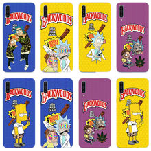rick and morty backwoods Soft silicone phone cover case for samsung Galaxy A30 A50 A10 2019 J5 J72016 A3 A5 A8 A750 2018 Plus