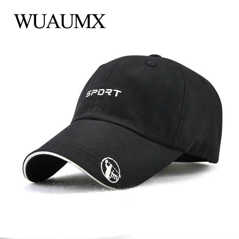 Wuaumx Good Quality Baseball Caps For Men Summer Female Hat Sunshade For Women Snapback Hat Cotton Sports Golf Cap Casquette