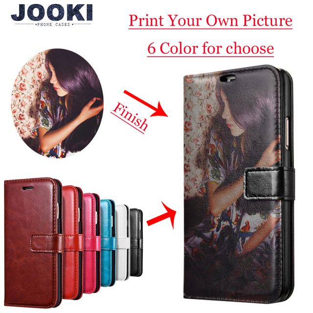 Custom made any image pic Photo DIY Wallet Leather Phone Case Flip Cover For Apple iPhone X 8Plus 8 7Plus 7 6sPlus 6s 6Plus 6