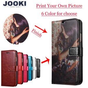 Image 1 - Wykonane na zamówienie dowolny obraz pic zdjęcie DIY portfel skórzany futerał na telefon odwróć pokrywa dla Apple iPhone X 8Plus 8 7Plus 7 6splus 6s 6Plus 6