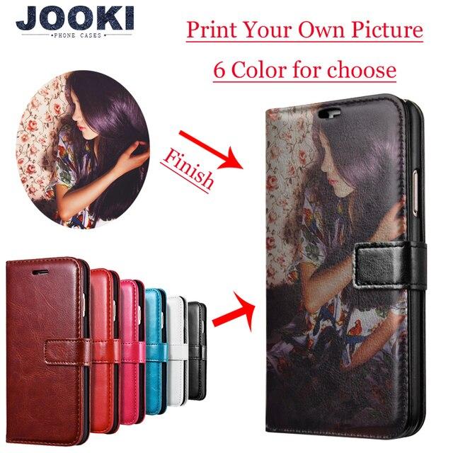 Wykonane na zamówienie dowolny obraz pic zdjęcie DIY portfel skórzany futerał na telefon odwróć pokrywa dla Apple iPhone X 8Plus 8 7Plus 7 6splus 6s 6Plus 6