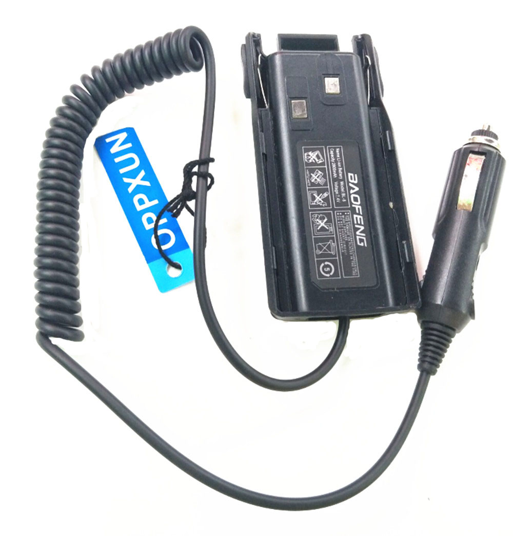 for Baofeng walkie talkie accessor baofeng UV82 Battery Eliminator Car Charger For Portable CB radio UV-82 Accessories