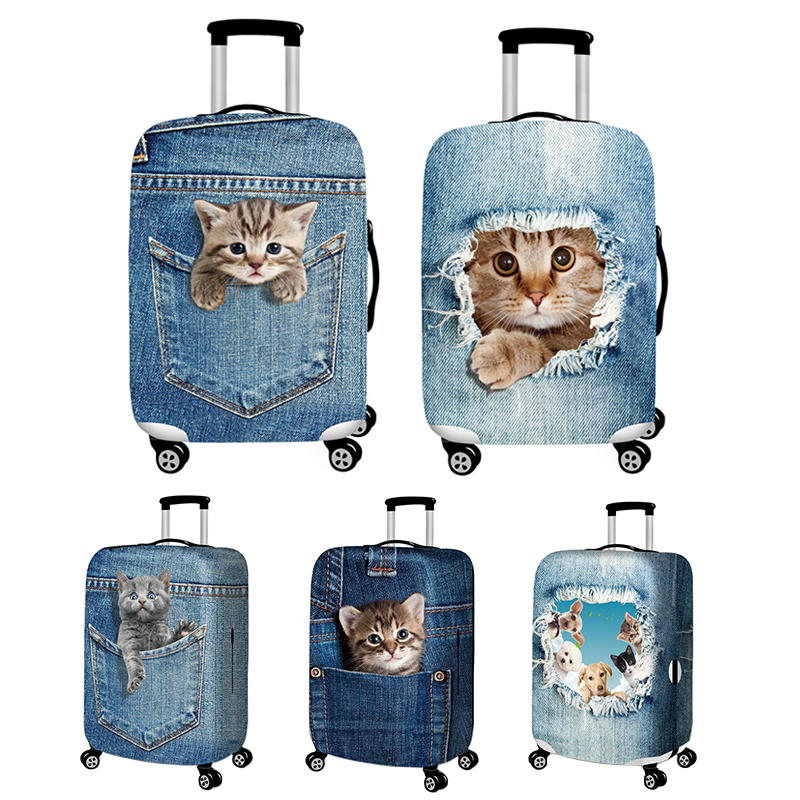 travel-accessories-elasticity-denim-luggage-cover-suitcase-protection-baggage-dust-cover-cute-animal-cover-trunk-set-for