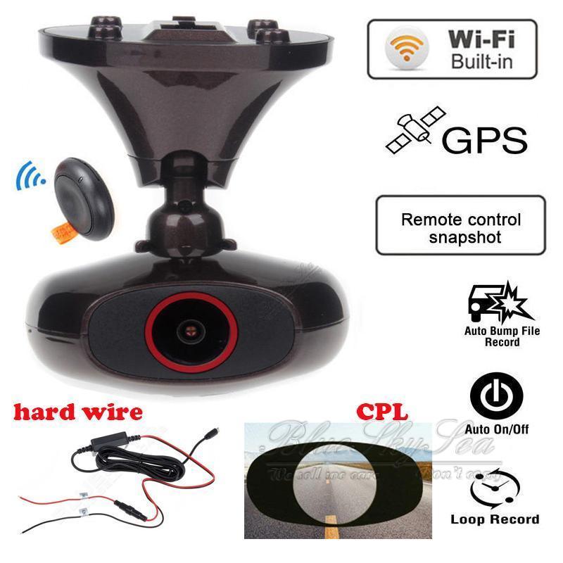 imágenes para Tablero de coches Cam DDPAI M6 Plus HD 1440 P WIFI GPS DVR Cámara CPL Filtro de Alambre Duro