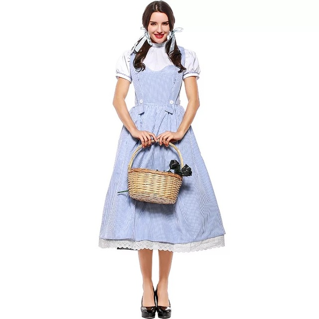 Ladies Adult Dorothy The Wizard Of Oz Costume Halloween Outfit S- XXXL Fancy Suspender Fairy  sc 1 st  AliExpress.com & Ladies Adult Dorothy The Wizard Of Oz Costume Halloween Outfit S ...