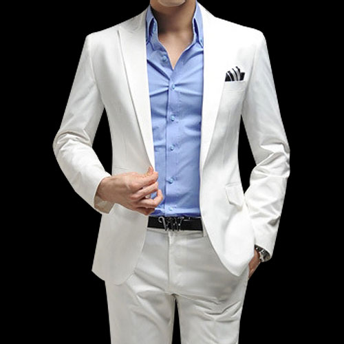White Blazer For Men Photo Album - Reikian
