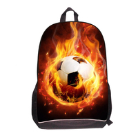 3D Children Boys Ball Printed School Bags Fans Travel Bags Teenager Boys Backpack Men Back Bag