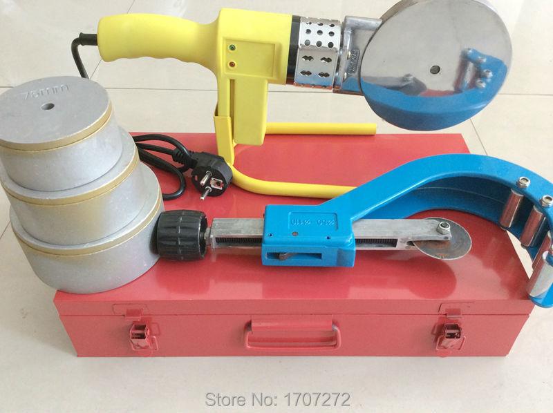 Ingyenes szállítás állandó hőmérsékleten működő elektronikus PPR hegesztőgép AC 220V 1500W, 75-110 mm csatlakoztatható DN 50-110 mm PPR vágó