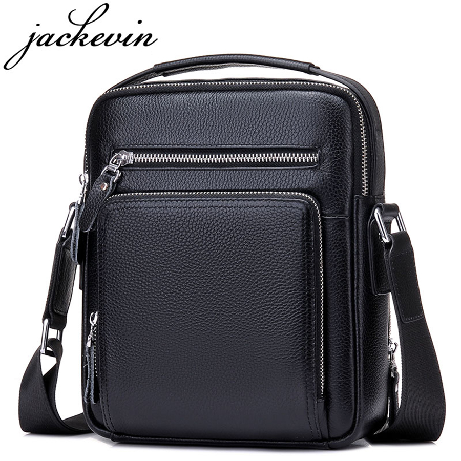 JACKKEVIN Top Quality 100% Genuine Leather Bags