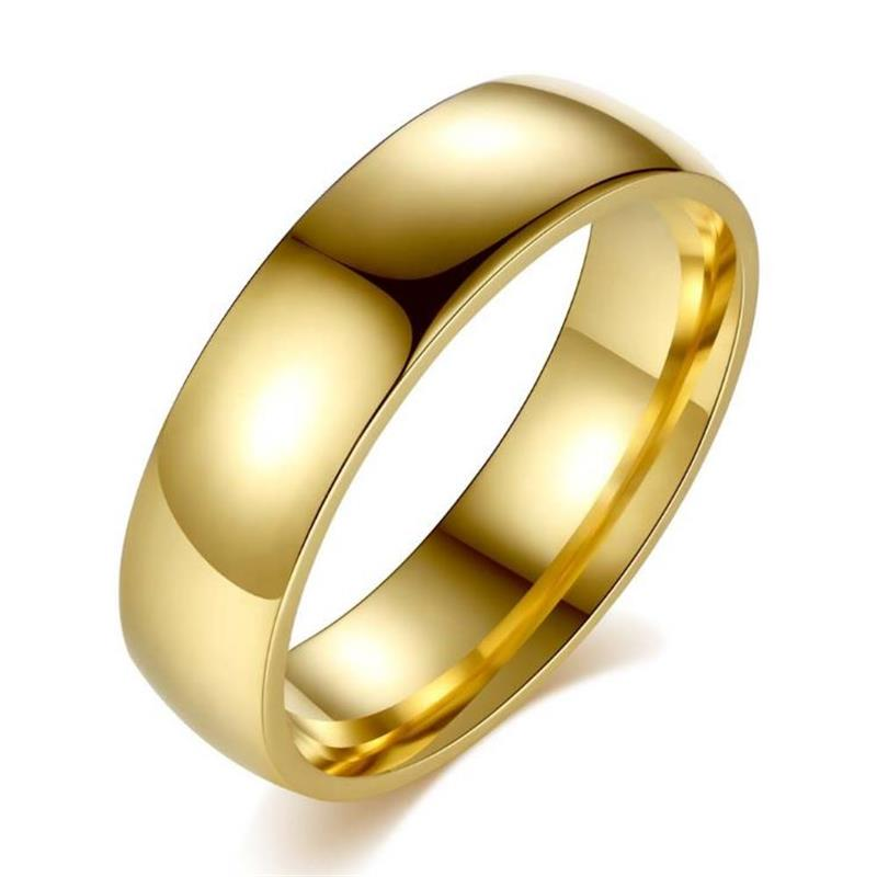Stainless Steel Plated Round Black Gold Fashion Rings For Women Or Men Fashion Jewelry Rings Party Engagement Wedding Love Gifts