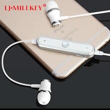 S6 Wireless Bluetooth V4.1 Earphones Fone De Ouvido Sports Bluetooth Headset Earbuds Anti-sweat for Smartphones LJ-MILLKEY LZ001