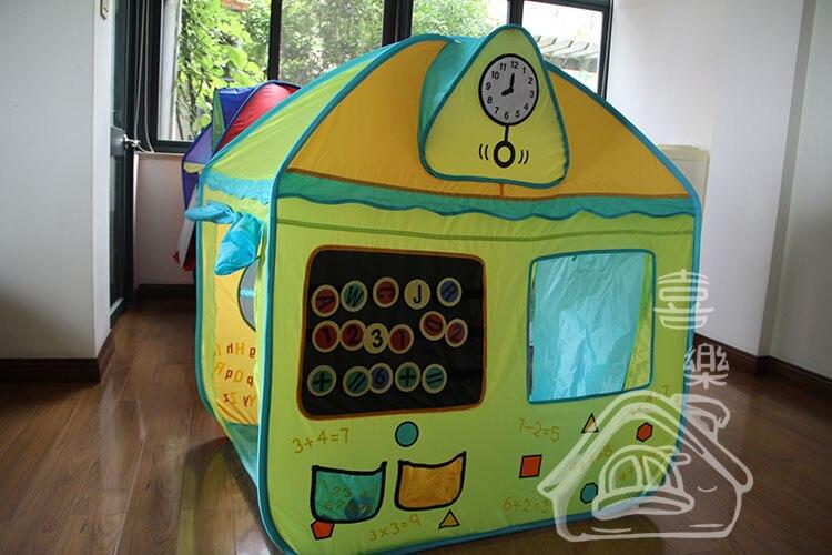 Livraison gratuite 2013 Enfant jouet tente de jeu intérieur maison de jeu en plein air enfants tente Grand TOTS mer piscine à balles cadeau puzzle maison jouet
