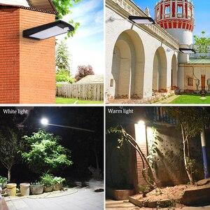 Image 5 - Đèn Năng Lượng Mặt Trời Ngoài Trời 48 Đèn LED Dán Tường Năng Lượng Mặt Trời Cảm Biến Chuyển Động Ánh Sáng Với Bộ Điều Khiển Từ Xa Không Dây Chống Nước An Ninh Đèn Treo Tường