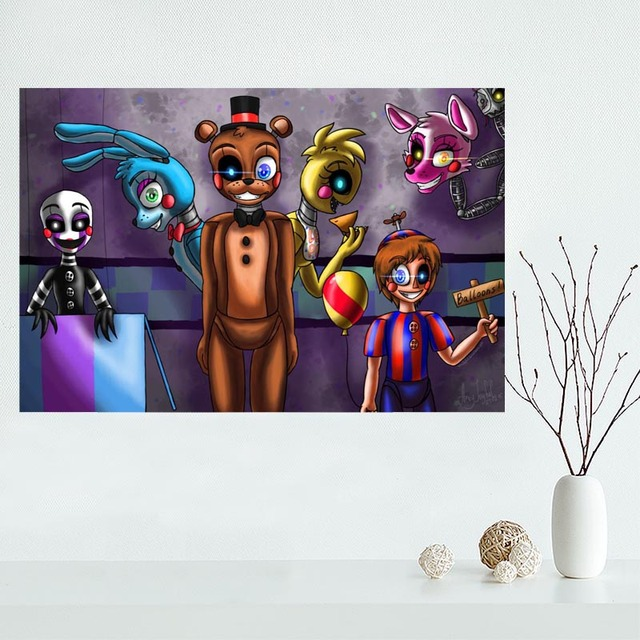 Custom Five Nights At Freddys Canvas Poster Home Decoration Wall