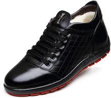 Nouvelle Hiver Neige Cheville Bottes avec du Coton-Rembourré Chaussures En Cuir Hommes de Bottes Courtes Couleur Noir Brun Chaud Véritable Mans en cuir Bottes