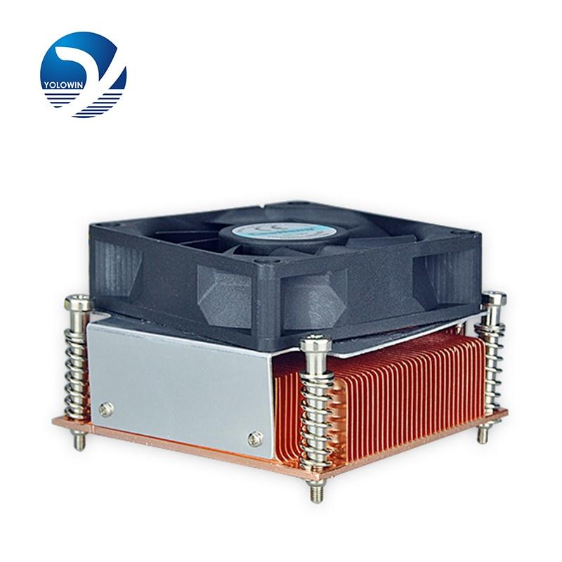 Heatink 2U Active Solutions для камп'ютэрных корпусаў, якія здымаюць шруб і вясну Два шарыкавых падшыпніка з вентылятарам 4 кантакту з ШИМ F6-01
