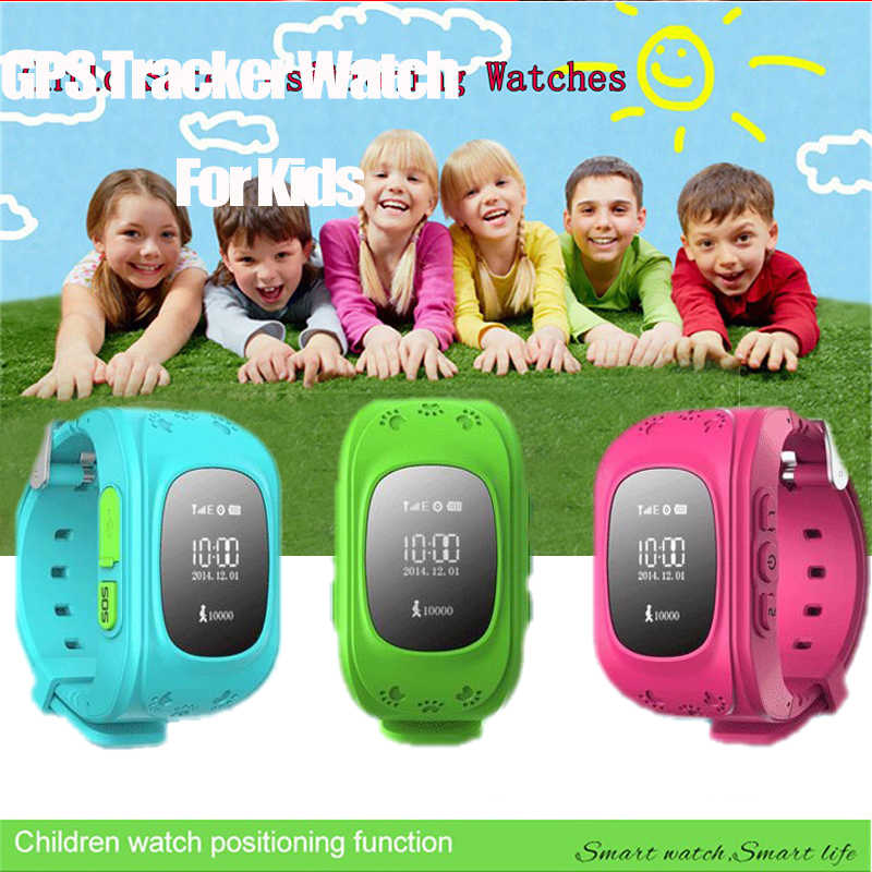 Boorui relojes Q5 GPS Tracker Smart Kid Q50 Watch Anti-lost  smartWatch for Android/iOS and  SOS Emergency with Smartphone App