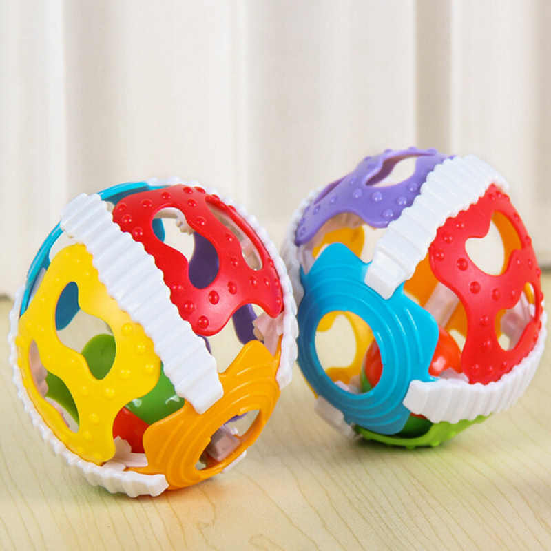 Fun Little Loud Bell Ball Baby Ball Toy Rattles Develop Baby Intelligence Baby Activity Grasping Toy Hand Bell Rattle