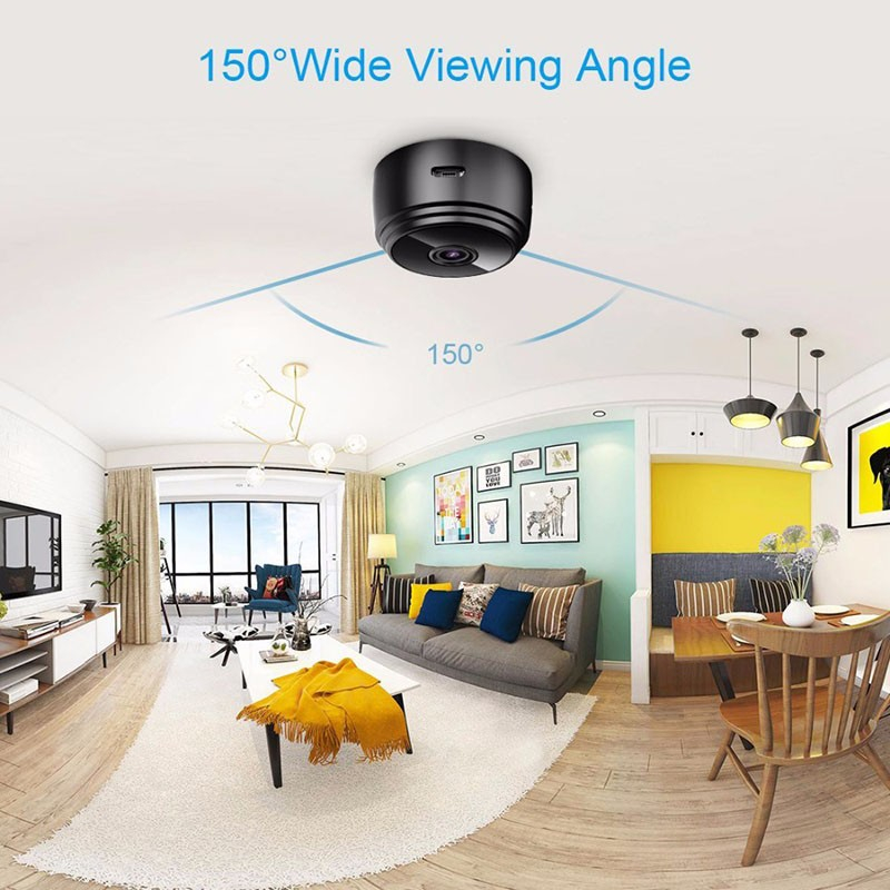 Image 4 - A9 Mini WiFi camera 1080P HD Remote playback video small micro cam Motion Detection Night Vision Home Monitor Security camcorder-in Surveillance Cameras from Security & Protection