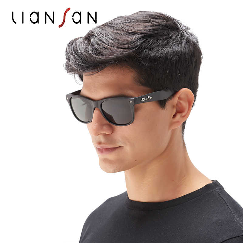 4f9a0d728e LianSan Vintage Polarized Female Square Sunglasses Women Men Retro Luxury  Brand Designer Acetate Driver Fashion Black