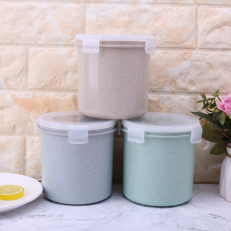 NEW Cylinder Kitchen Storage Box Seal Food Preservation Plastic Fresh Pot Container Random delivery W215
