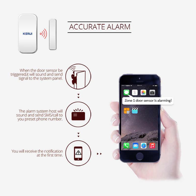 Gratis Pengiriman 10 Pcs/lot Kerui Nirkabel Cerdas Celah Pintu Jendela Magnetik Sensor Detector 433 MHz untuk W20 W193 W18 Alarm sistem